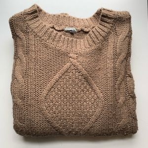 Charlotte Russe Brown Crew Neck Sweater Size Large